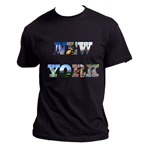 Tee Shirt Homme Noir New-York - S - Noir