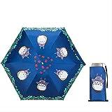 QNBD Mignon Chat Enfants Femelle Enfant Totoro Ttk Étanche UV Soleil 5 Pliant Parasol Travle Plage Parapluies Pluie...