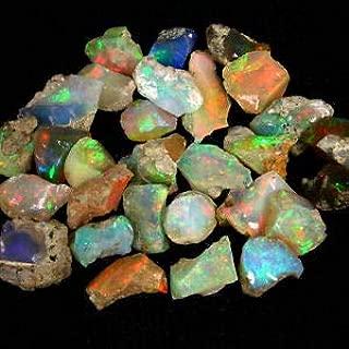ATOZ SHOPPING Amazing Quality Natural Ethiopian Opal Rough Lot 1 Piece (1.00ct,3.00ct,5.00ct,) Amazing Multi Fire Welo Fire Opal Rough Untreated Rough Raw Gemstone, Black Opal Rough (mix fire 3 carat)