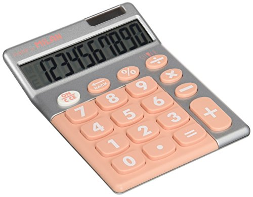 MILAN 159906SLPBL - Calculadora, 10 dígitos, color plata y rosa