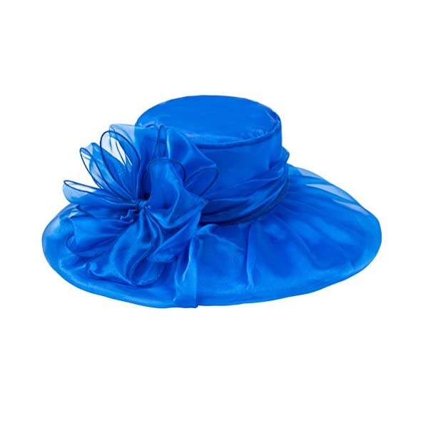 SAFERIN Lady Tea Party Kentucky Derby Church Wedding Dress Church Hat Bridal Shower