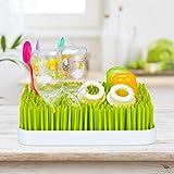 little Choice Abtropfgestell Babyflaschen, Auffangschale, Gras-Design, Flaschentrockner, Kunststoff, 23x23cm, grün/weiß - 8