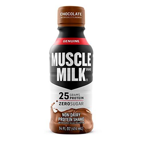 Muscle Milk Genuine Protein Shake, Chocolate, 25g Protein, 14 FL OZ, 12 Count
