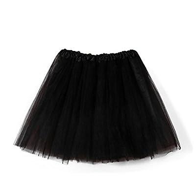 GOTD Women's Layered Tutu Skirt Dress Tulle Ballet Tiered Dance Ruffle Flared Mini Skater Skirt