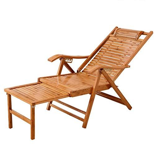 Folding Hardwood Patio Chair, Steamer Garden Chair Outdoor Recliner,Sun Lounger Solid Wood Relax Adjustable Armchair Garden Patio Yard Lawn Furniture