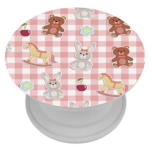 TIZORAX Bär, Kaninchen, Trojaner, Puppe, Telefon, Popper, Griffhalterung, erweiterbar, für Smartphones und Tablets, 1 Stück