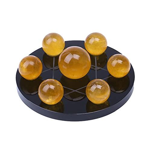 WENMENG2021 Bolas de energía Retro Feng Shui Amarillo Cristal Bola decoración de Siete Estrella Matriz decoración de Escritorio Sala de Estar Estudio decoración del hogar Bola de fotografía de Vidrio