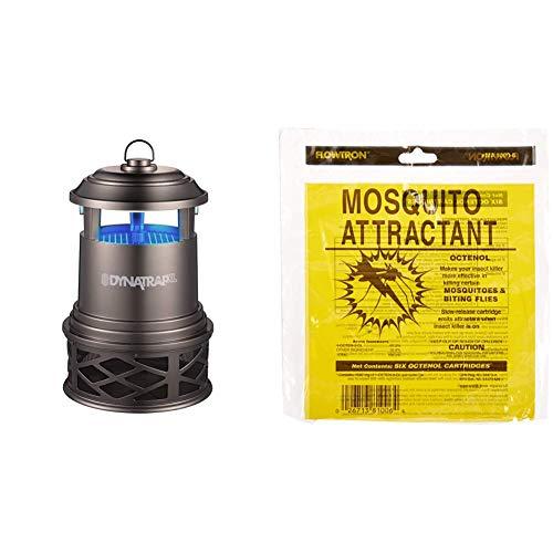 DynaTrap (DT2000XLP-TUN), 1 Acre, Tungsten & Flowtron MA-1000-6 Octenol Mosquito Attractant Cartridges, 6-Pack