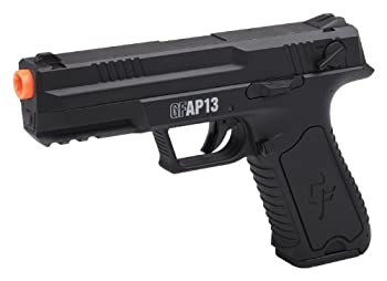 GAME FACE GFAP13 AEG Electric Full/Semi-Auto Airsoft Pistol With Battery Charger Speed Loader And Ammo Black