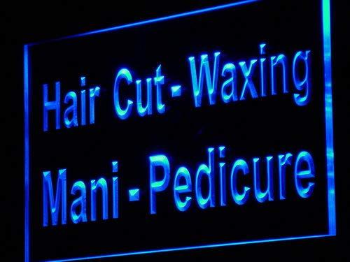 ADV PRO Enseigne Lumineuse j121-b Hair Cut Waxing Mani Pedicure Neon Light Sign