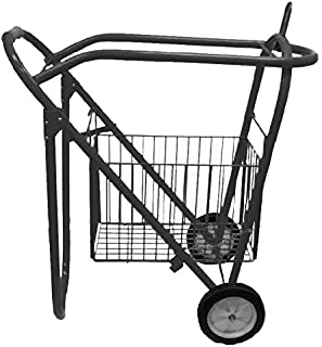 Rolling Saddle Rack Cart with Basket