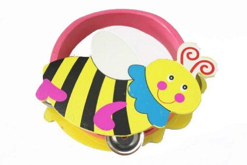 Mignon Bee Mini Tambourin Bois tambour à main pour enfants