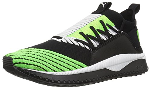 PUMA Men's Tsugi JUN Sneaker, Black-Green Gecko White, 10.5 M US