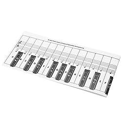 Snufeve6 Tableau des Touches du Piano, Tableau des Notes du Clavier Fond Transparent Portable pour la comparaison pour l\'exercice