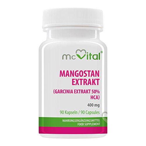 McVital Mangostan Extrakt 400 mg • 90 Kapseln • Garcinia Extrakt • 50% HCA • Natürlicher Fatburner