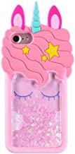 FunTeens Bling Unicorn Case for Apple iPod Touch 6th 5th Generation,3D Cartoon Animal Design Cute Soft Silicone Quicksand Glitter Shiny Cover,Kawaii Cool Skin for Kids Child Teens Girls(iPod Touch5/6)