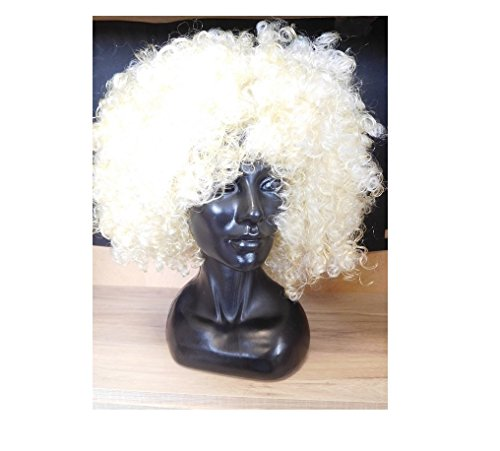Perruque Affro Afro Bouclé Blonde Adulte - Accessoire Deguisement - 853