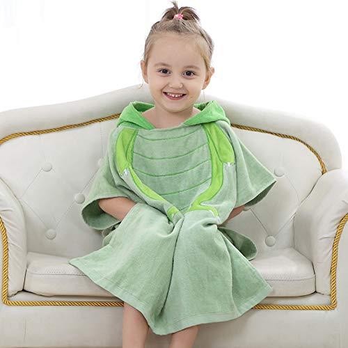 Serviette à Capuche Enfant Bébé Un Peignoir Très Grande,Coton Doux Poncho Ultra-absorbante pour Les 0-6 Ans Garçons Fille,60x120cm(24x47inch),Green