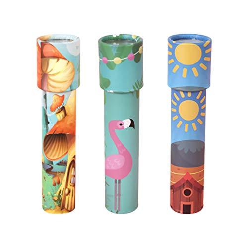 Toyvian 3 Stück Kaleidoskop Spielzeug, Klassische Kaleidoskope Lernspielzeug für Kinder Party Bevorzugt Taschenfüller Schulpreise (Gemischter Stil)