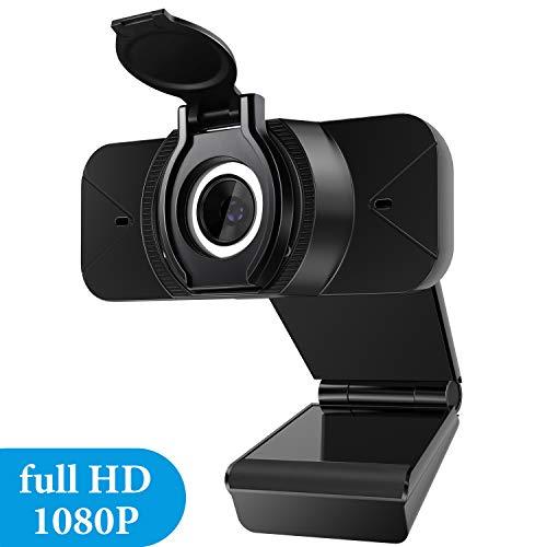 EXTSUD USB Webcam, 1080P Webcam HD mit Mikrofon und Abdeckung Computerkamera für Videoanrufe Konferenzen, Remote-Video, Online-Unterricht und Live-Streaming