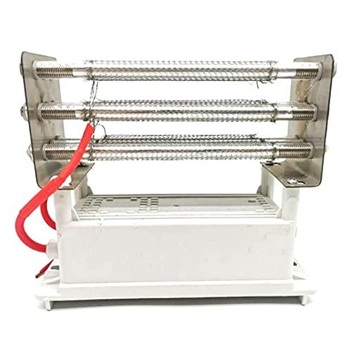 SONGHUA 11 3 0G / H Tubo de Cuarzo purificador de Aire del generador de ozono, Limpiador de ozonizador de electrodo de Acero Inoxidable de ozonador de Aire (Color : Silver)