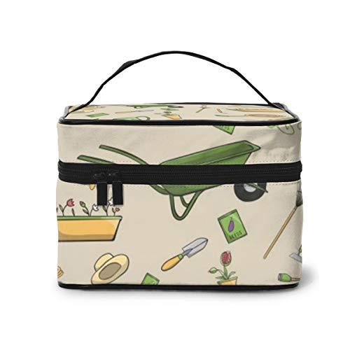 Travel Makeup Cosmetic Bags Girl Toiletry Bags Makeup Decorative Garden Tools Seamless Wallpaper