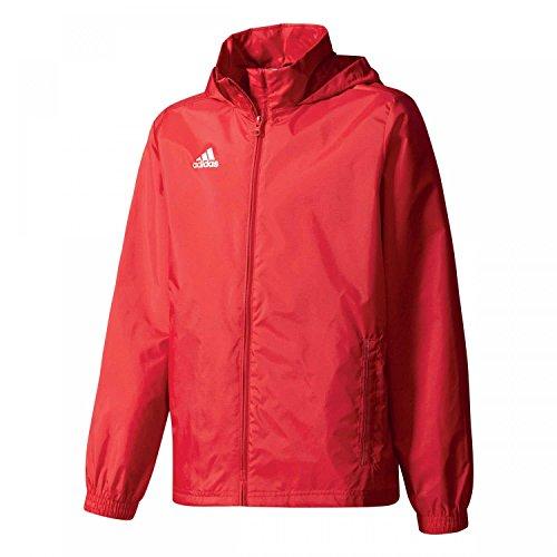 adidas Core 15 Regenjacke Kinder rot/weiß, 152