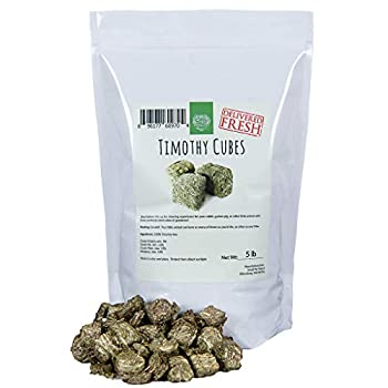 Small Pet Select - Straight Timothy Hay Cubes - 100% All Natural Timothy Hay Not Blended - Delivered Fresh Guarantee  5 lb
