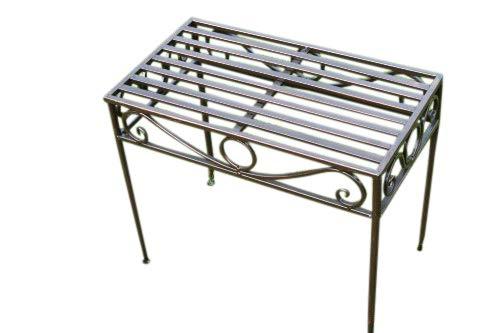 Beistelltisch oder Untergestell aus Metall, im Versailles-Stil, in antiker Bronzeausführung (kleine Größe) - Ideal für Haus und Garten