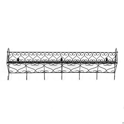 Jardinière Art de fer Style européen Etagère murale Porte-manteau Plusieurs tailles noir (taille : 50 * 20 * 31cm)