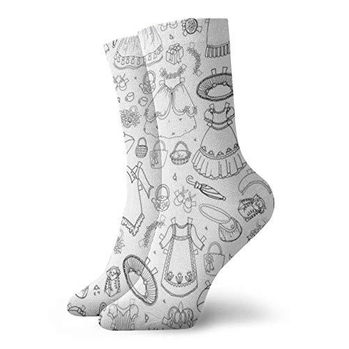 Chloerose - Calcetines cortos de papel, 30 cm, adecuados para hombres y mujeres