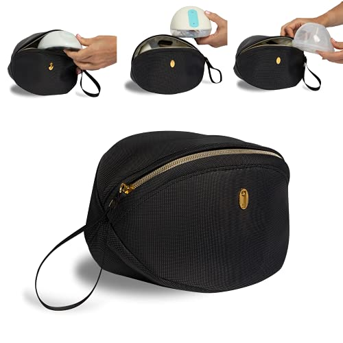 Wearable Breast Pump Bag for Working Moms, Case for Willow and Elvie Wireless Pumps - Idaho Jones   Mini Breastpump Bag Pouch, Hands Free Breast Pump Storage Bag for Pumping Bag, Diaper Bag or Handbag