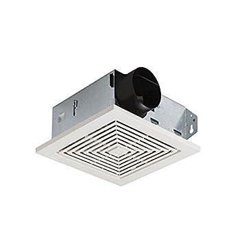 Broan-NuTone 671 Ventilation Fan White Square Ceiling or Wall-Mount Exhaust Fan 6.0 Sones 70 CFM
