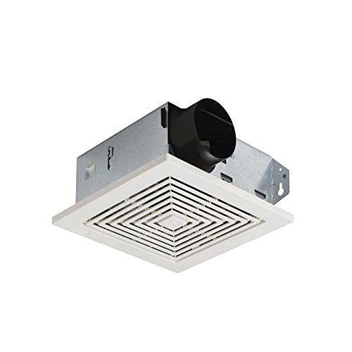 Broan-NuTone 671 Ventilation Fan, White Square Ceiling or Wall-Mount Exhaust Fan, 6.0 Sones, 70 CFM