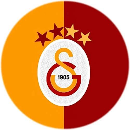 Galatasaray Tortenaufleger, Rund 20CM - Geburtstag Tortenbild Zuckerbild Tortenplatte Oblate Kuchenzuckerplatte