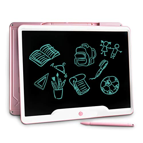 15 inch LCD Writing Tablet, JONZOO Office Electronic Blackboard Digital Memo Notepad Handwriting Tablet, Paperless Message/Drawing Board for School/Home, Pink