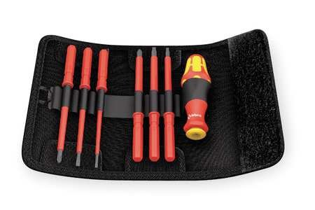 Wera Tools – 05003473001 – 6-1/16 6 en 1 Electricista aislado Multi-Bit Destornillador; Número de piezas: 7