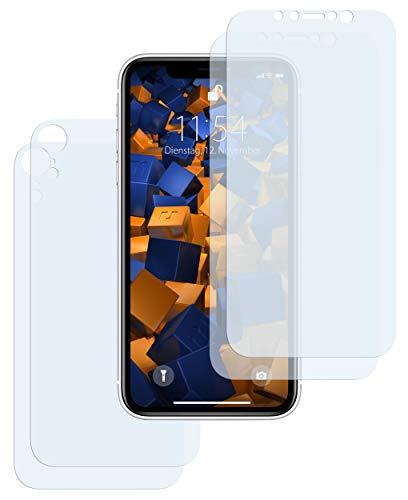 mumbi Schutzfolie kompatibel mit Apple iPhone XR Folie klar, Bildschirmschutzfolie (4x)
