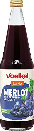 Voelkel Bio Merlot Traubensaft, rot - 100% Direktsaft (6 x 700 ml)