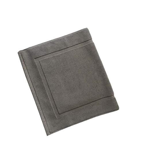 KEAINIDENI toiletmat Katoen Handdoek-vorm Ant-Slip Hotel Spa Beauty Badmat voor Floor Entrance Deurmat Toilet Badkuip Vloermatten Wit 50x80cm Grijs