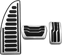 MTステンレス鋼の車のペダルカバーペダルのカバーペダルのペダルの焦点を合わせる2 3 4 MK2 MK3 MK4 kuga escesc rs st 2005-2017ペダルカバー (Color : At2)