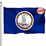DFLIVE Double Sided Virginia State Flag 3x5ft Heavy Duty Polyester 3 Ply VA Flags Indoor and Outdoor Use