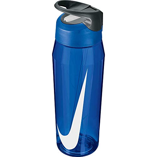 Nike Unisex's Hypercharge Botella de agua de paja para bebidas, azul/blanco, 32 onzas