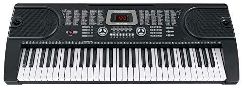 McGrey EK-6100 Keyboard - Einsteiger-Instrument mit 61 Tasten in Standardgröße - 255 Klänge und Begleitrhythmen - Lernfunktionen - Batteriebetrieb möglich - schwarz