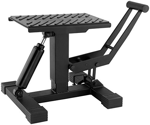 BikeMaster Easy Lift & Lower Off-Road Motorcycle Jack Stand - Black/One Size
