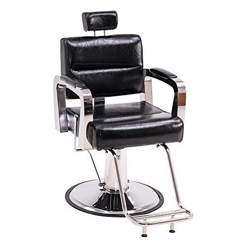 BarberPub Recliner Hydraulic Barber Chair Hair Spa Salon Styling Beauty Equipment 3127