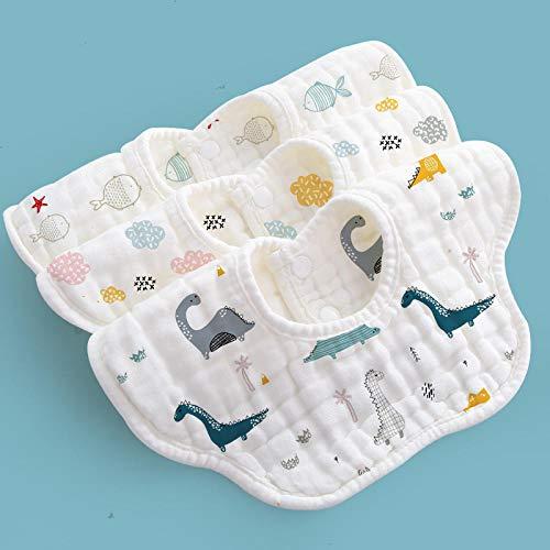 Asciugamano saliva baby, bavaglino in garza di cotone, bavaglino per neonato sputo impermeabile, rotazione a 360 gradi, confezione da 3-K