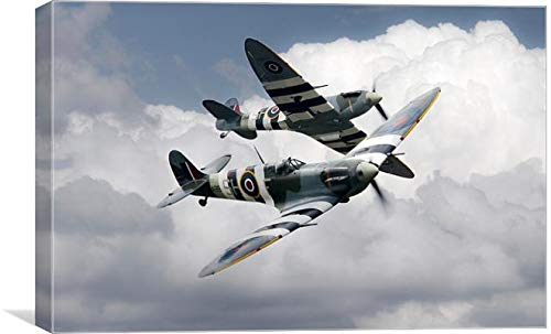 J Biggadike Leinwanddruck Spitfire Flying Legends (762 x 1168 mm)