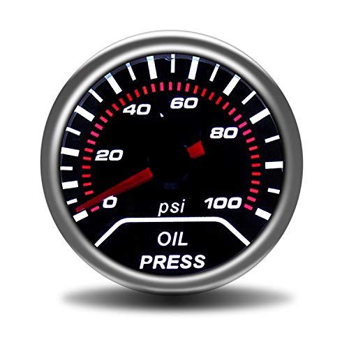 """Dhmm123 Digital Auto 2\""""52mm Öldruckanzeige 0-7bar Mit Sensor Rauch Objektiv Ölpresse Manometer Auto Meter Spezifisch"""
