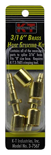 K-T Industries 3-7567 Empalme de manguera 0.1875, 3/16'